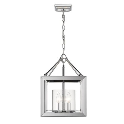 Thorne Convertible 3-Light Semi Flush Mount Shade Color: Clear Glass