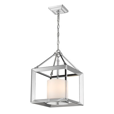 Thorne Convertible 3-Light Semi Flush Mount Shade Color: Opal Glass