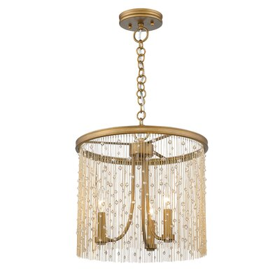 Latrell 3-Light Crystal Chandelier Color: Crystal Beads