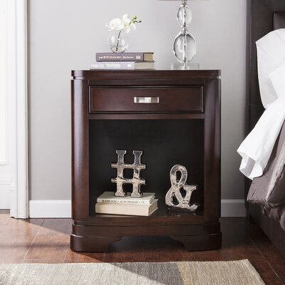 Cuccia 1 Drawer Nightstand Color: Merlot