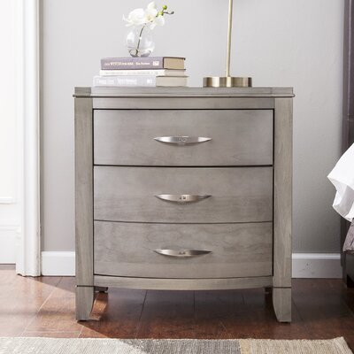 Cuddy 2 Drawer Nightstand Color: Driftwood Gray