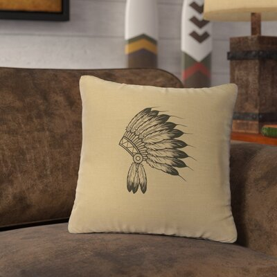 Naccarato Headdress Throw Pillow Color: Straw