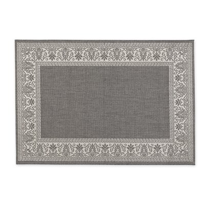 Veranda Border Gray Indoor/Outdoor Area Rug