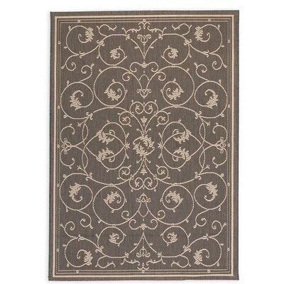 Veranda Scroll Gray Indoor/Outdoor Area Rug