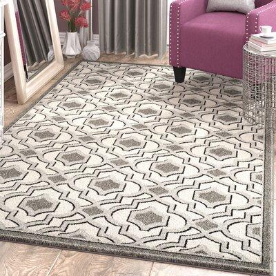 Maritza Wool Ivory/Gray Indoor/Outdoor Area Rug Rug Size: Rectangle 5 x 8