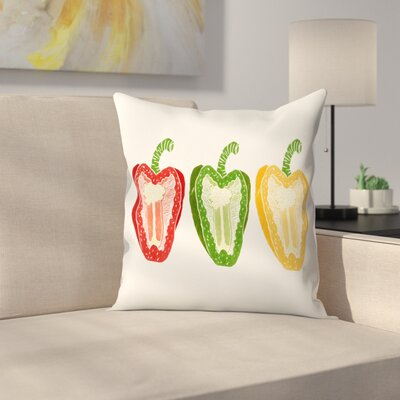Tracie Andrews Mixed Peppers Throw Pillow Size: 20 x 20