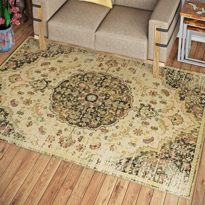 Holbrook Sand/Mocha Area Rug Rug Size: Rectangle 53 x 77