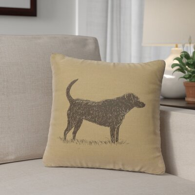 Fendley Lab Throw Pillow Color: Straw