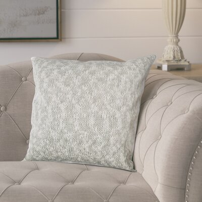 Drury 100% Cotton Throw Pillow Color: Gray/Silver