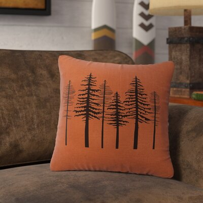Nakasi Trees Throw Pillow Color: Paprika