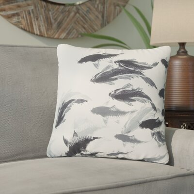 Loughton Chinese Koi Painting Throw Pillow