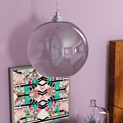 Copeland Sphere 1-Light Globe Pendant Shade Color: Chrome, Size: Small