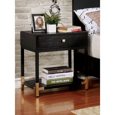 Heger 1 Drawer Nightstand