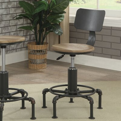 Gowan Contemporary Adjustable Height Swivel Bar Stool