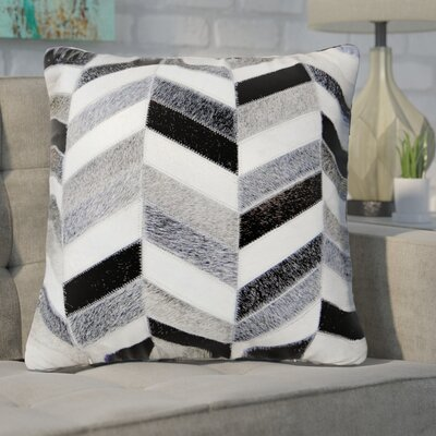 Freshford Leather Throw Pillow Pillow Cover Color: Ivory/Silver