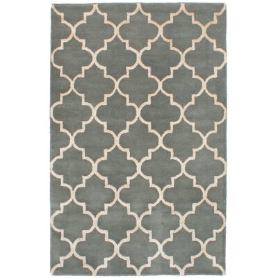 Hartland Hand-Tufted Wool/Silk Gray Area Rug
