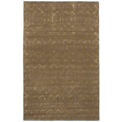 Griffing Hand-Tufted Wool/Silk Brown Area Rug