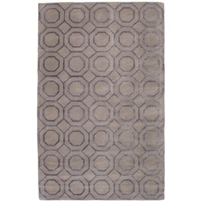 Griffing Hand-Tufted Wool/Silk Gray Area Rug