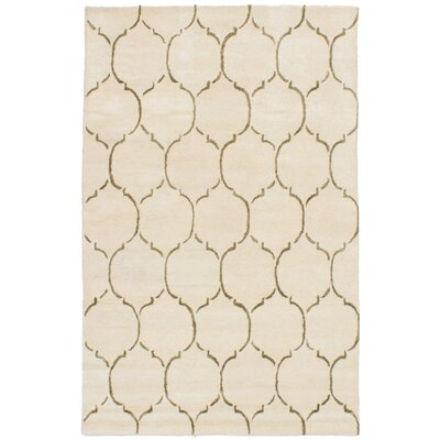 Hartland Hand-Tufted Wool/Silk Cream Area Rug