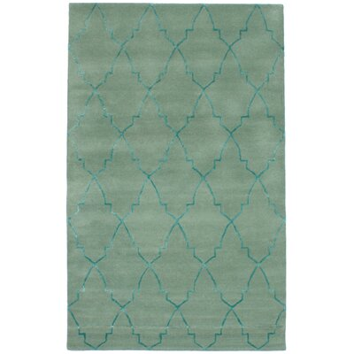 Hartland Hand-Tufted Wool/Silk Light Green Area Rug