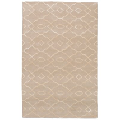 Cannock Hand-Tufted Wool/Silk Tan Area Rug