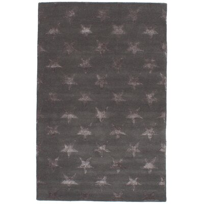 Dimauro Hand-Tufted Wool/Silk Dark Gray Area Rug