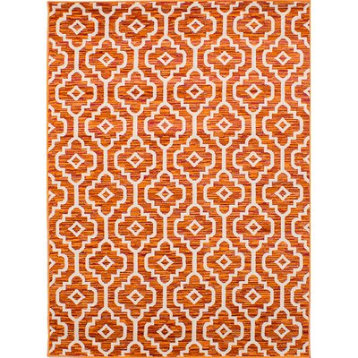 Hartin Orange/Red Area Rug