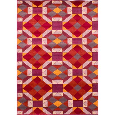 Noren Red Area Rug