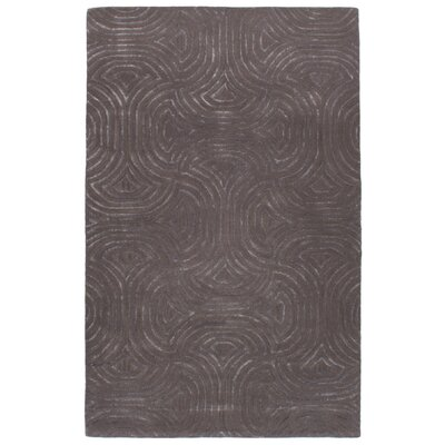 Rouveroy Hand-Tufted Wool/Silk Dark Gray Area Rug