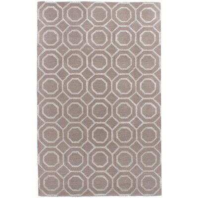 Griffing Hand-Tufted Wool/Silk Light Khaki Area Rug