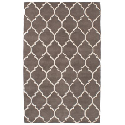 Hartland Hand-Tufted Wool/Silk Dark Gray Area Rug