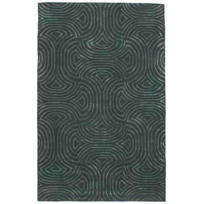 Ryde Hand-Tufted Wool/Silk Dark Gray/Light Green Area Rug