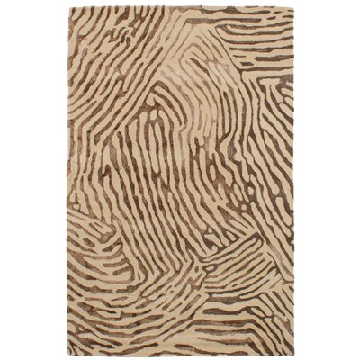 Normand Hand-Tufted Dark Brown/Ivory Area Rug