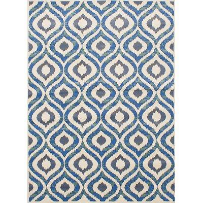 Griffeth Ivory/Slate Blue Area Rug