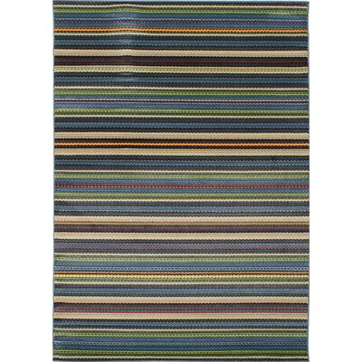 Leeper Blue/Dark Gray Area Rug