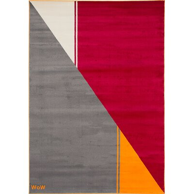 Leeper Gray/Red Area Rug