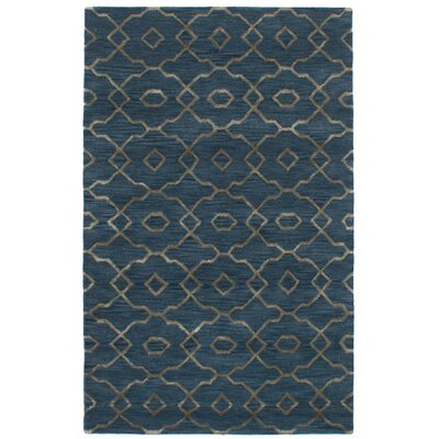Hartland Hand-Tufted Wool/Silk Blue Area Rug