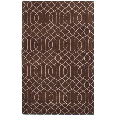 Griffing Hand-Tufted Dark Brown Area Rug