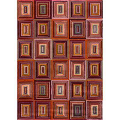 Demetra Red Area Rug Rug Size: Rectangle 53 x 75