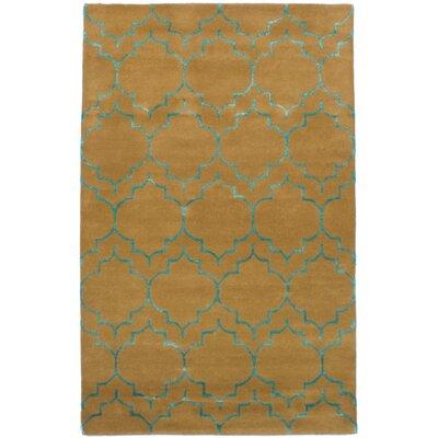 Hartland Hand-Tufted Wool/Silk Light Brown Area Rug