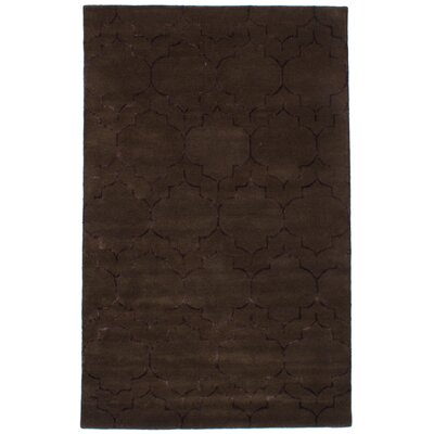 Hartland Hand-Tufted Wool/Silk Dark Brown Area Rug