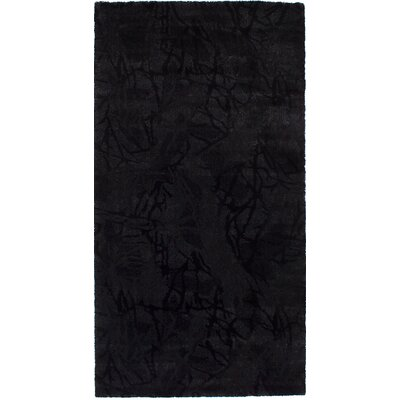 Purmerend Black Area Rug Rug Size: Rectangle 56 x 106