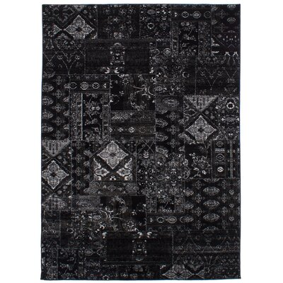 Ossu Black Area Rug Rug Size: Rectangle 67 x 96