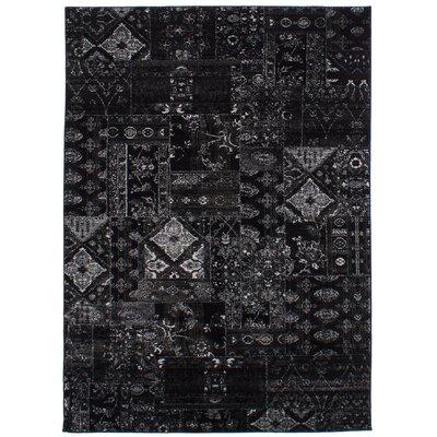 Ossu Black Area Rug Rug Size: Rectangle 55 x 78