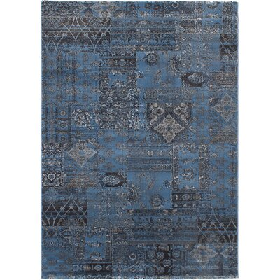 Ossu Light Gray/Slate Blue Area Rug
