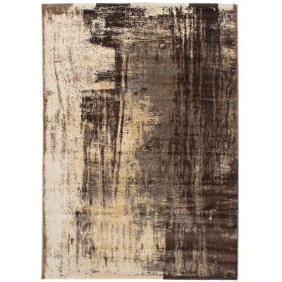 Duchene Dark Brown/Tan Area Rug
