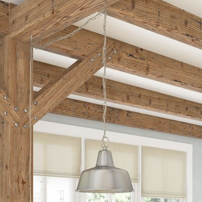 Shamong 1-Light Swag Inverted Pendant Base Finish: Galvanized