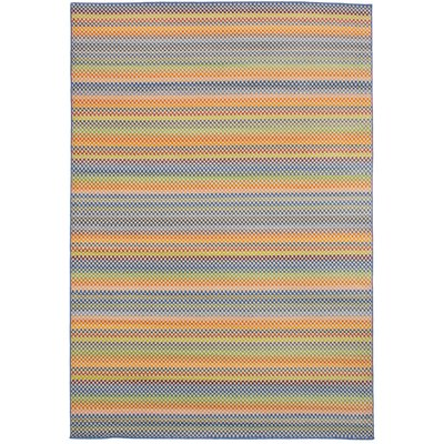 Leeper Blue/Orange Area Rug
