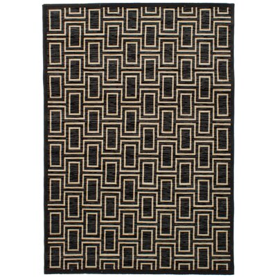 Hartin Black/Dark Gray Area Rug