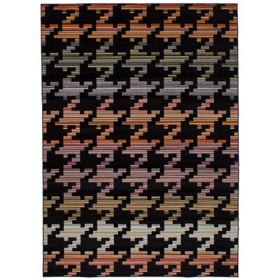 Leeper Black Area Rug